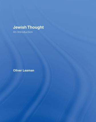Jewish Thought: An Introduction, 1st Edition (Hardback) book cover
