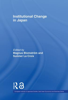 Institutional Change in Japan book cover
