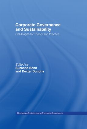 Corporate Governance and Sustainability: Challenges for Theory and Practice, 1st Edition (Hardback) book cover