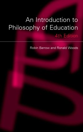 An Introduction to Philosophy of Education: 4th Edition (Paperback) book cover