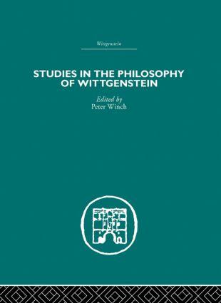 Studies in the Philosophy of Wittgenstein: 1st Edition (Hardback) book cover