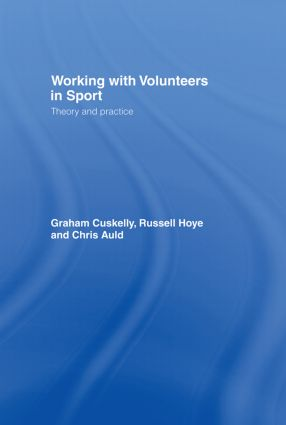 Working with Volunteers in Sport: Theory and Practice book cover