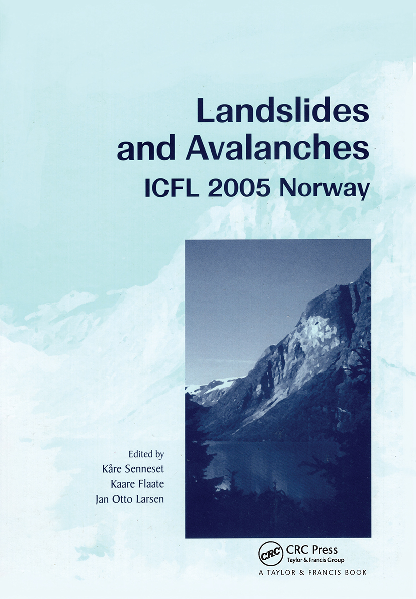Landslides and Avalanches. Norway 2005: Proceedings of the 11th International Conference and Field Trip on Landslides, Norway, September 2005, 1st Edition (Pack) book cover
