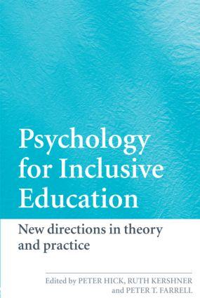 Psychology for Inclusive Education: New Directions in Theory and Practice (Paperback) book cover
