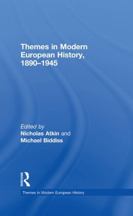 Themes in Modern European History, 1890–1945 book cover