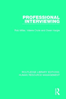 Professional Interviewing book cover