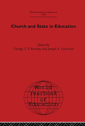 World Yearbook of Education 1966: Church and State in Education book cover