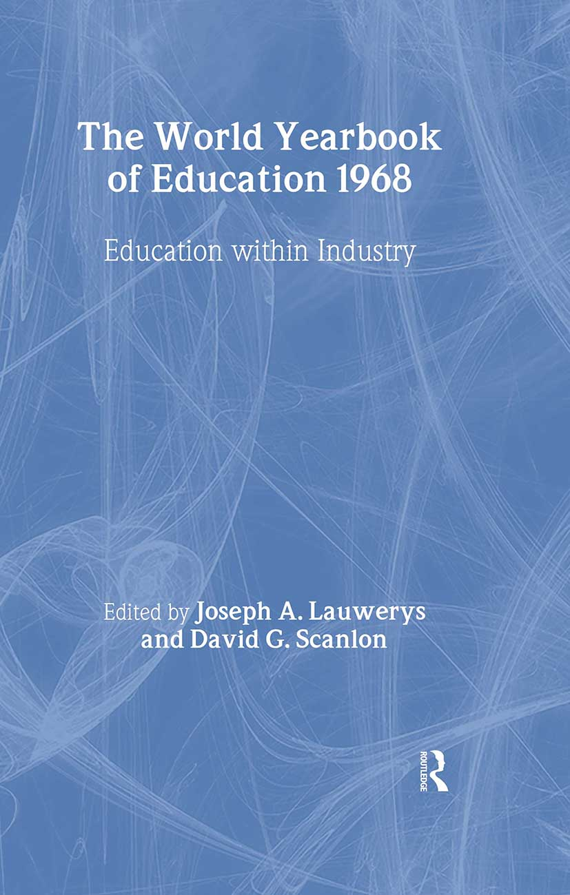 World Yearbook of Education 1968: Education Within Industry book cover