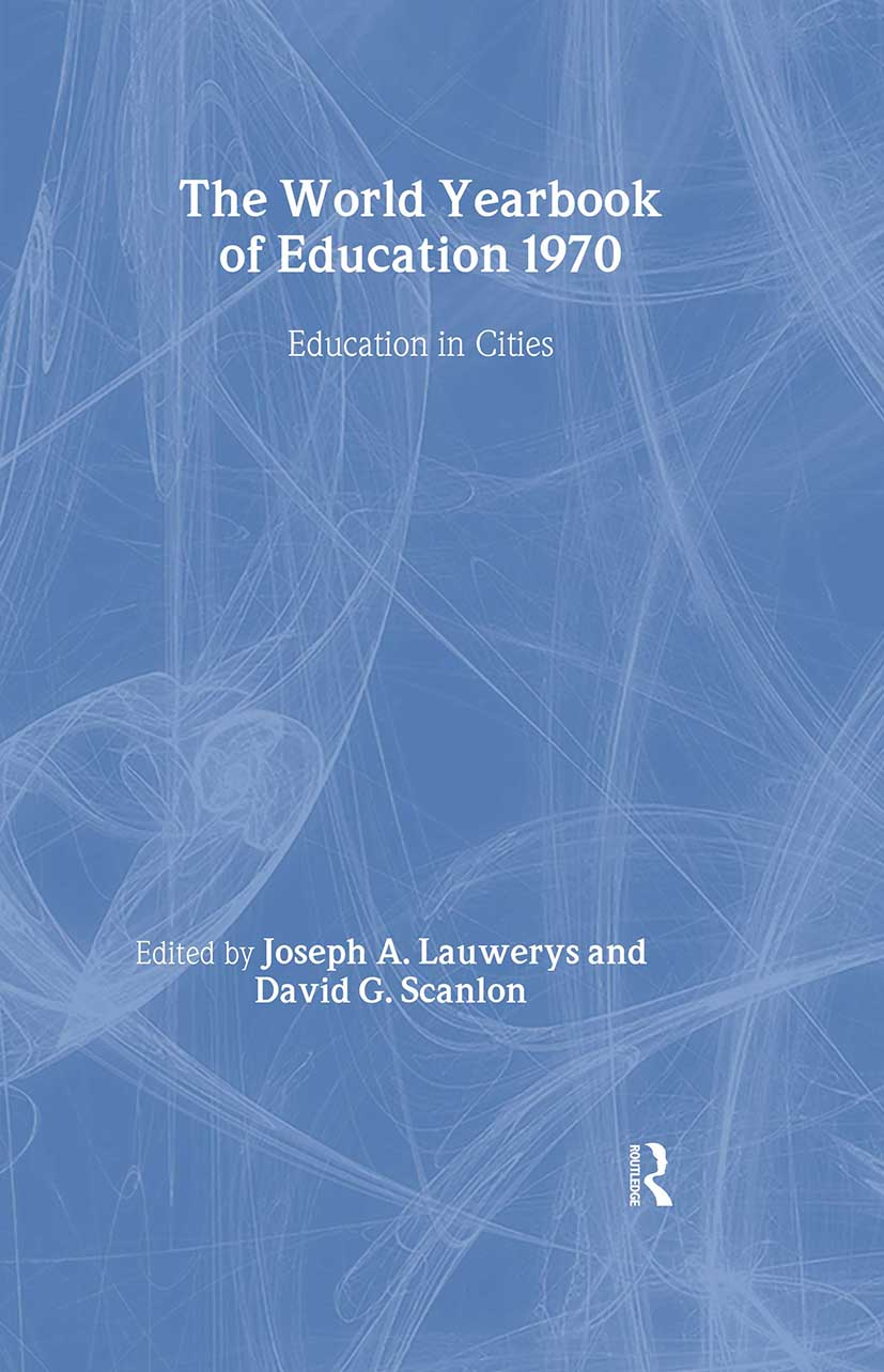World Yearbook of Education 1970: Education in Cities book cover