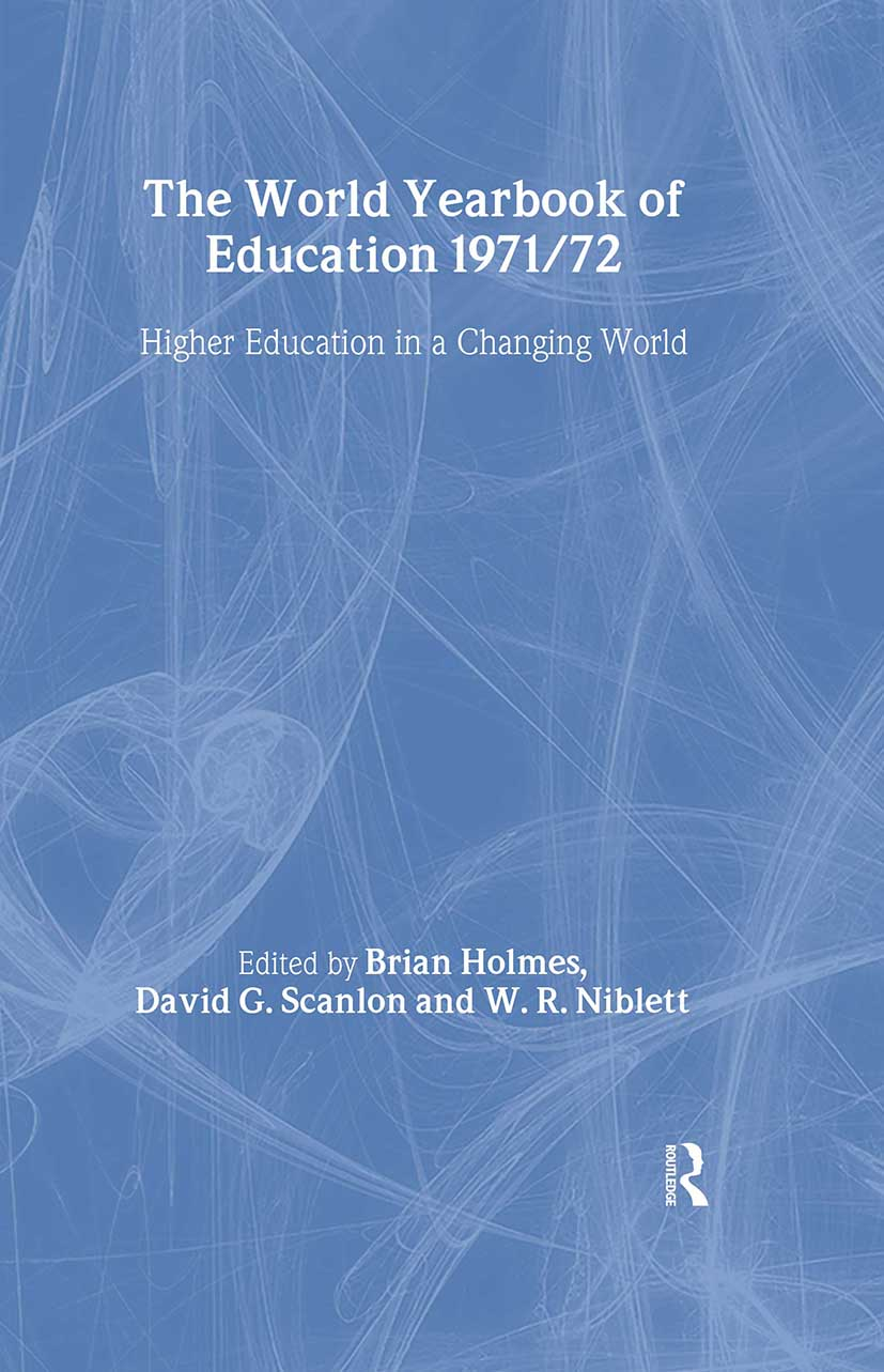 World Yearbook of Education 1971/2: Higher Education in a Changing World book cover