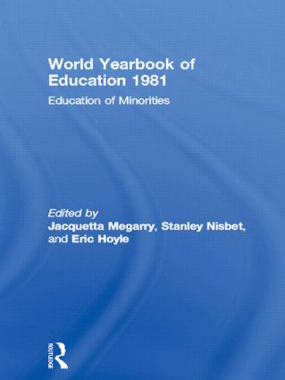 World Yearbook of Education 1981: Education of Minorities book cover