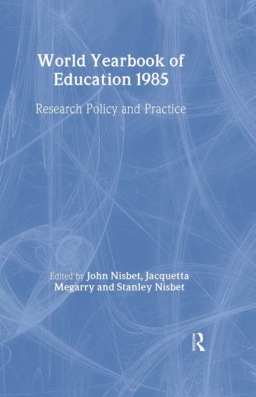 World Yearbook of Education 1985: Research, Policy and Practice book cover
