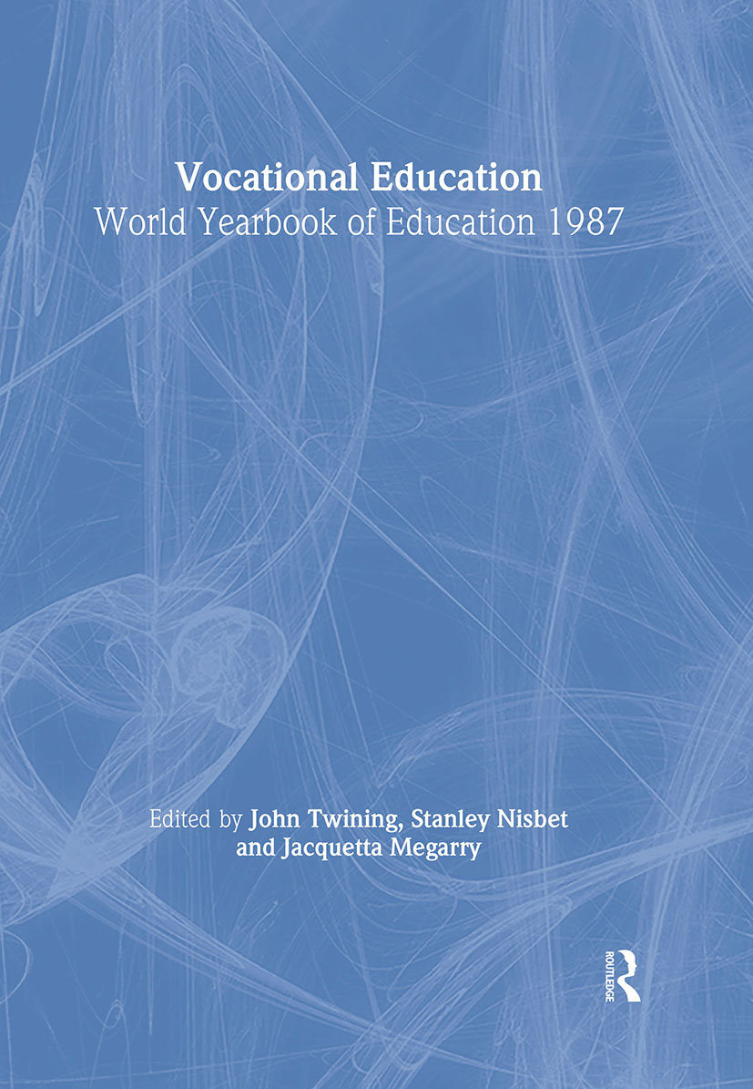 World Yearbook of Education 1987: Vocational Education book cover