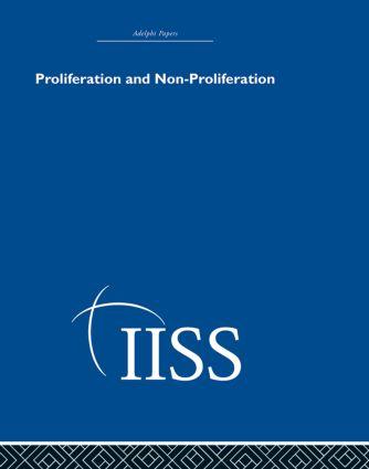 Proliferation and Non-Proliferation (Hardback) book cover