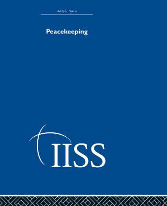 Peacekeeping: 1st Edition (Hardback) book cover