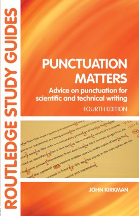 Punctuation Matters: Advice on Punctuation for Scientific and Technical Writing book cover