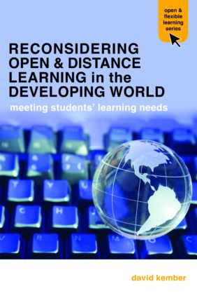 Reconsidering Open and Distance Learning in the Developing World: Meeting Students' Learning Needs, 1st Edition (Paperback) book cover