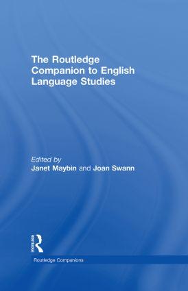 The Routledge Companion to English Language Studies