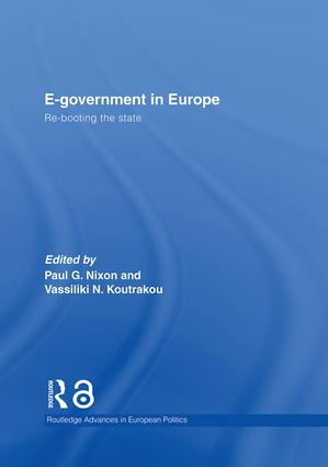 E-government in Europe: Re-booting the State, 1st Edition (Hardback) book cover
