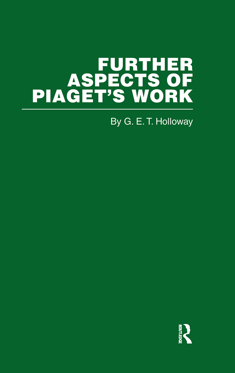 Further Aspects of Piaget's Work (Hardback) book cover