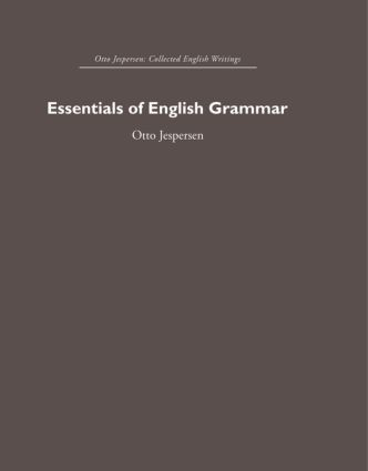 Essentials of English Grammar (Hardback) book cover
