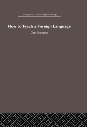 How to Teach a Foreign Language: 1st Edition (Hardback) book cover