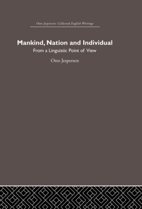 Mankind, Nation and Individual (Hardback) book cover