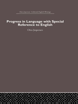 Progress in Language, with special reference to English (Hardback) book cover