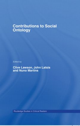 Contributions to Social Ontology book cover