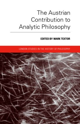 The Austrian Contribution to Analytic Philosophy (Hardback) book cover