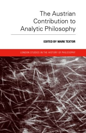 The Austrian Contribution to Analytic Philosophy book cover