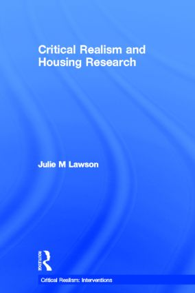 Critical Realism and Housing Research (Hardback) book cover