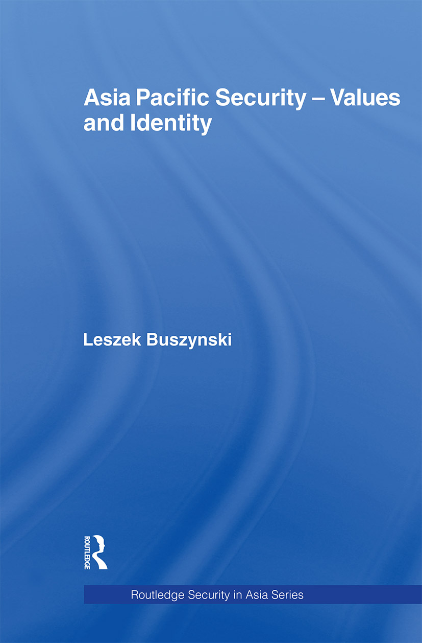 Asia Pacific Security - Values and Identity (Paperback) book cover
