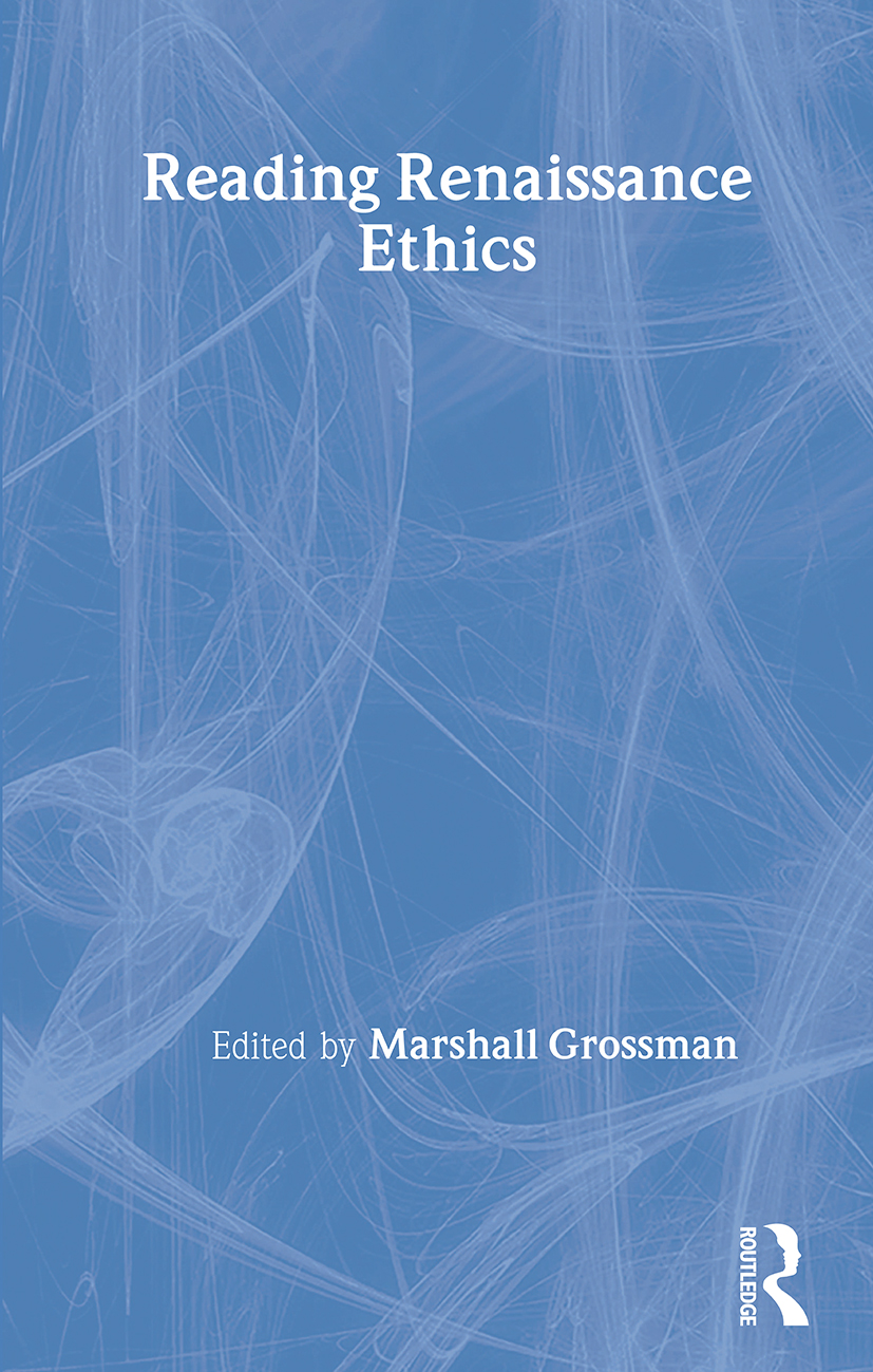 Reading Renaissance Ethics: 1st Edition (Paperback) book cover