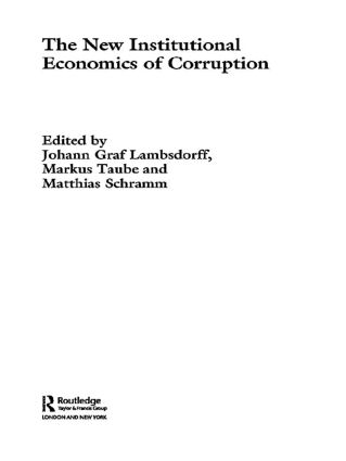 The New Institutional Economics of Corruption: 1st Edition (Paperback) book cover
