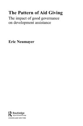 The Pattern of Aid Giving: The Impact of Good Governance on Development Assistance (Paperback) book cover