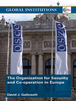 The Organization for Security and Co-operation in Europe (OSCE) (Paperback) book cover