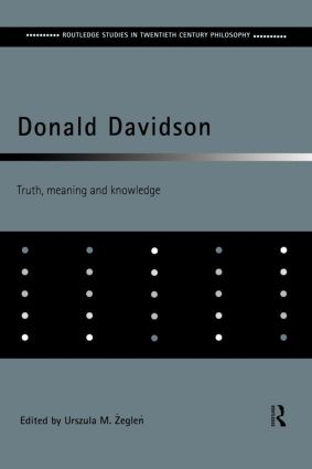 Donald Davidson: Truth, Meaning and Knowledge (Paperback) book cover