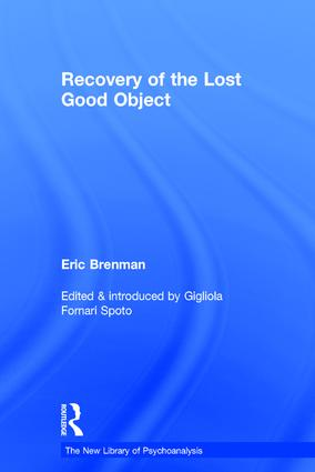 Recovery of the Lost Good Object book cover