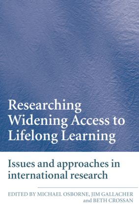 Researching Widening Access to Lifelong Learning: Issues and Approaches in International Research (Paperback) book cover