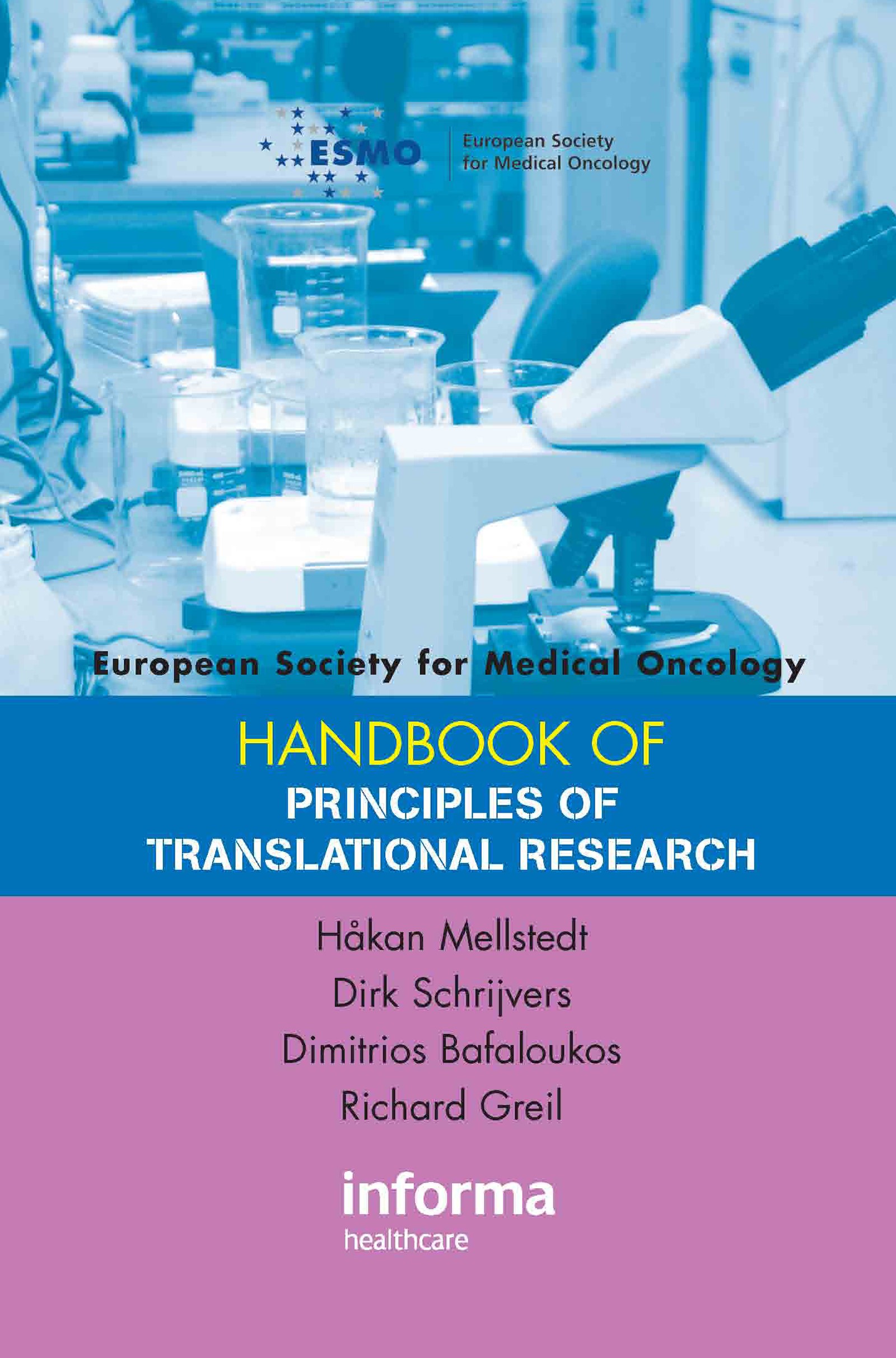 ESMO Handbook on Principles of Translational Research book cover