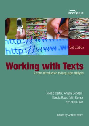 Working with Texts: A Core Introduction to Language Analysis book cover