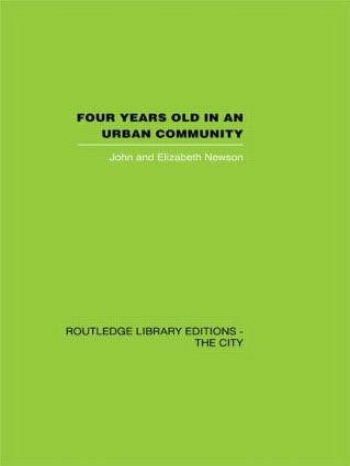 Four years Old in an Urban Community (Hardback) book cover