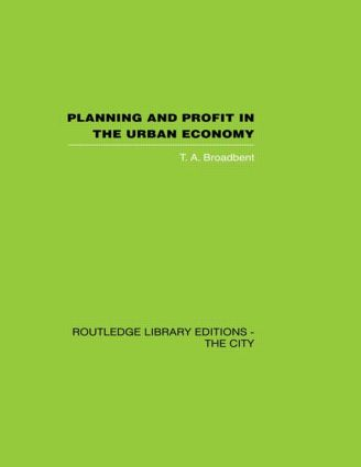 Planning and Profit in the Urban Economy (Hardback) book cover