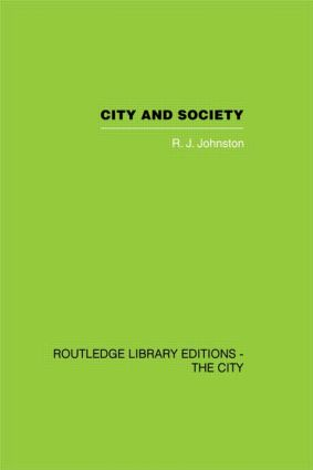 City and Society: An Outline for Urban Geography (Hardback) book cover