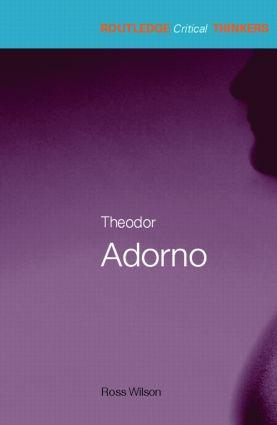 Theodor Adorno (Paperback) book cover