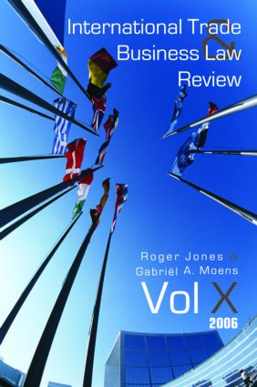 International Trade and Business Law Review: Volume X book cover