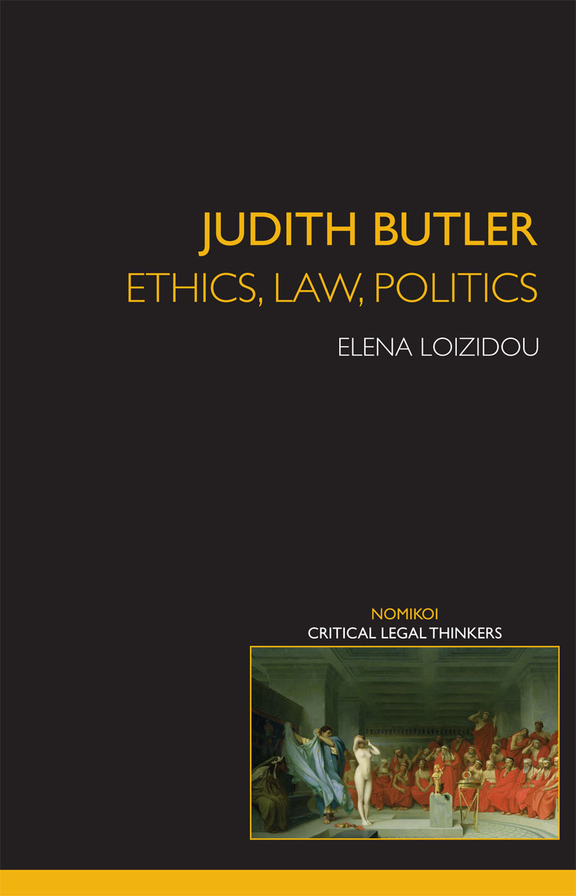 Judith Butler: Ethics, Law, Politics book cover