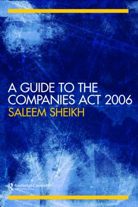 A Guide to The Companies Act 2006 (Paperback) book cover
