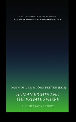 Human Rights and the Private Sphere vol 1: A Comparative Study (Hardback) book cover